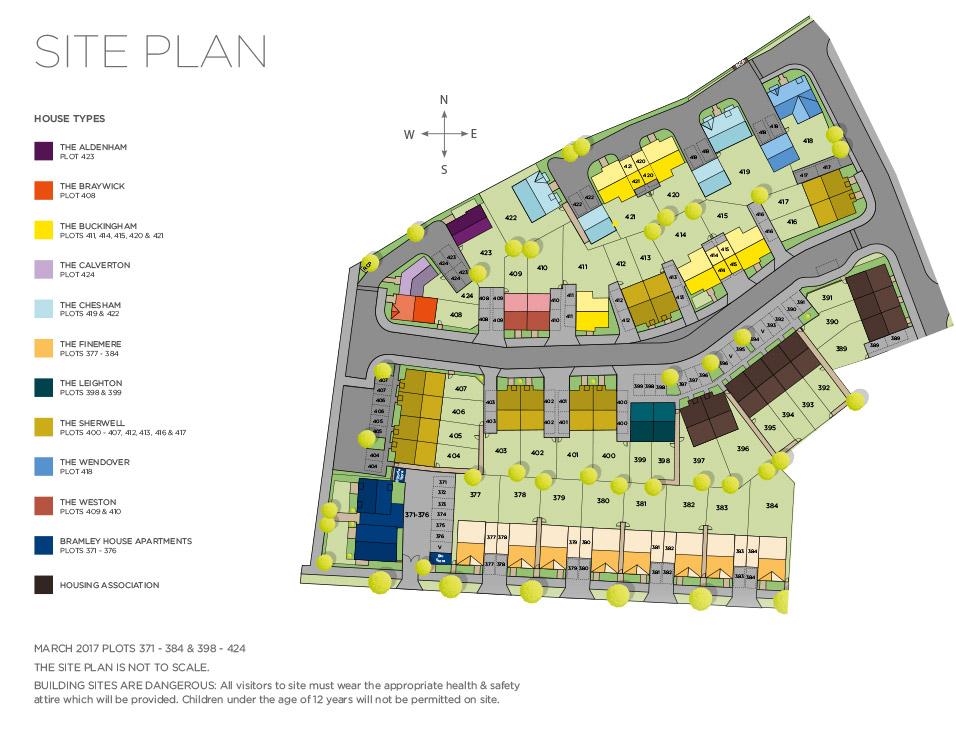 The Sherwell – Plot 412 Siteplan