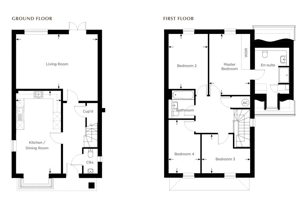 New Releases Available at Bewick Green, Wing Floor plan