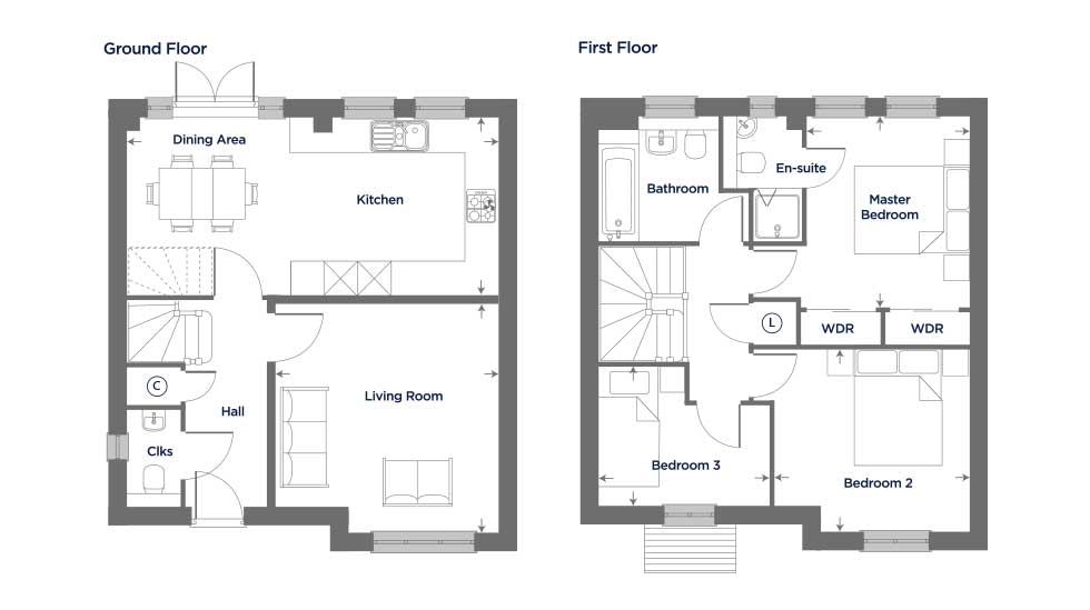 The Columbine – Plot 76 Floor plan