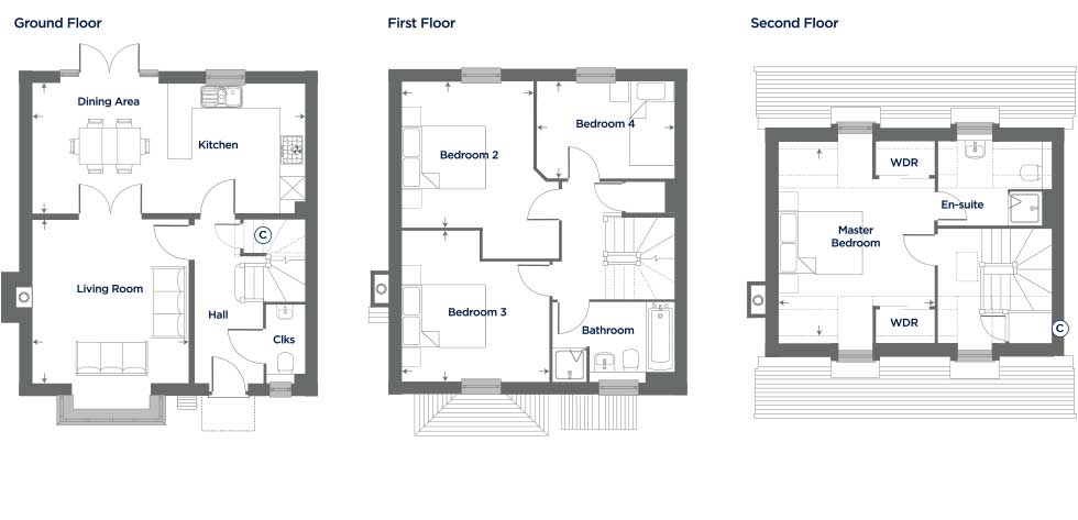 M158 – The Harebell Floor plan