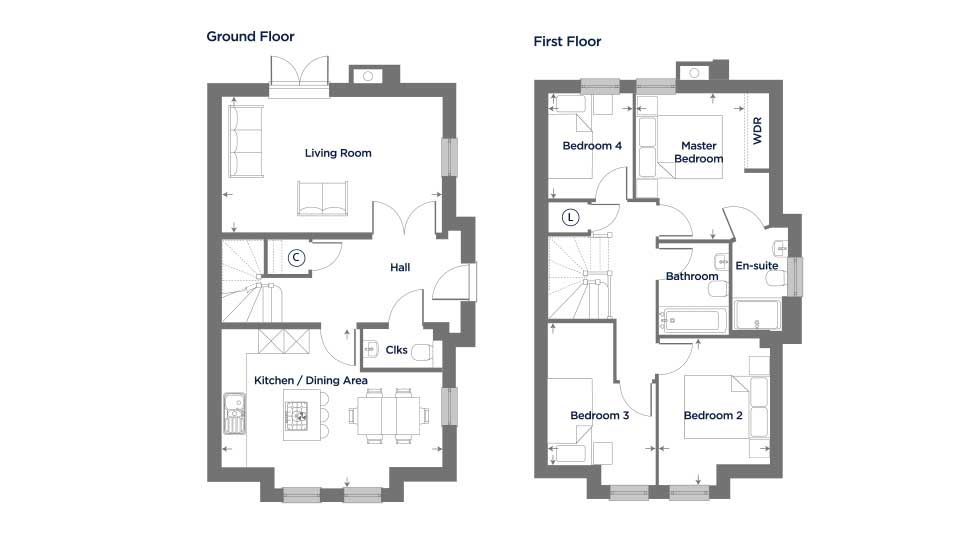 Fantastic Value for Money in Thriving Northampton Floor plan