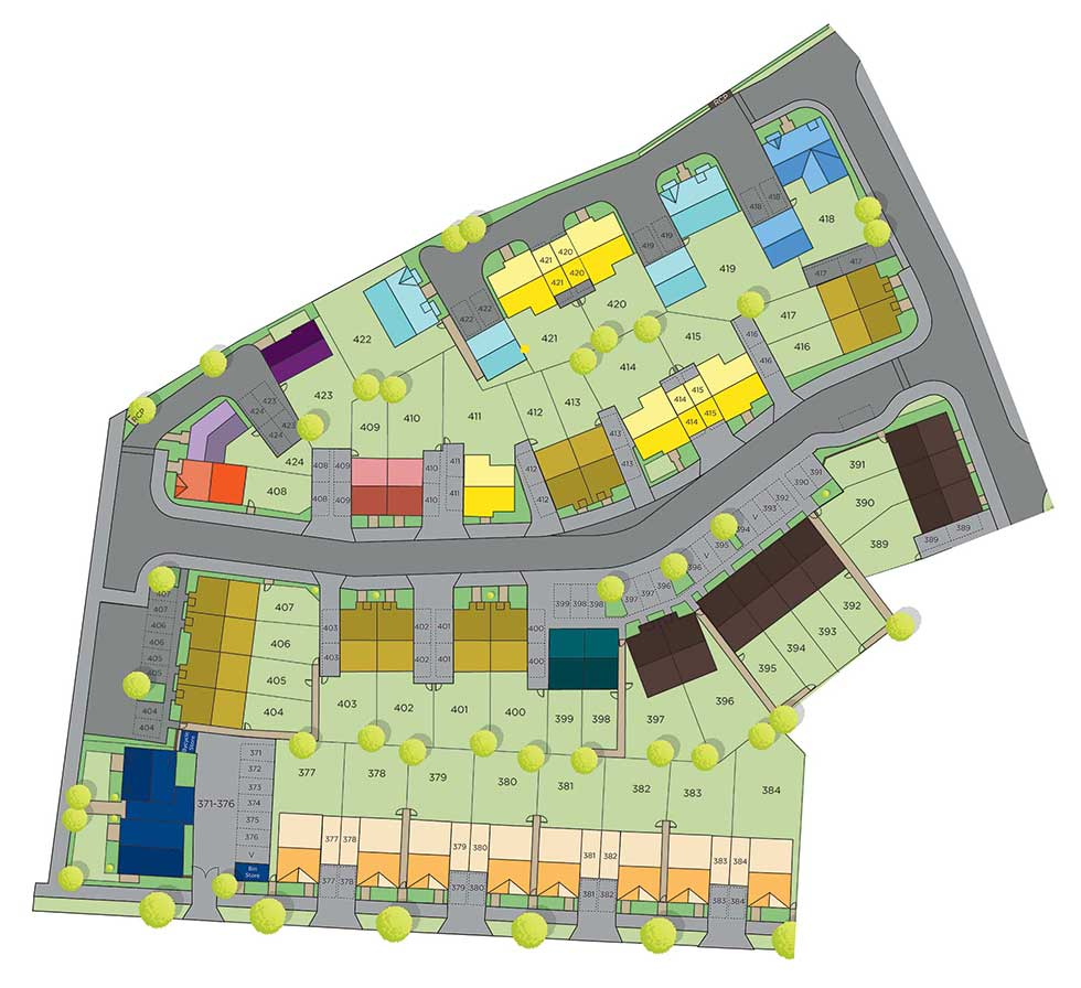 The Buckingham – Plot 415 Siteplan