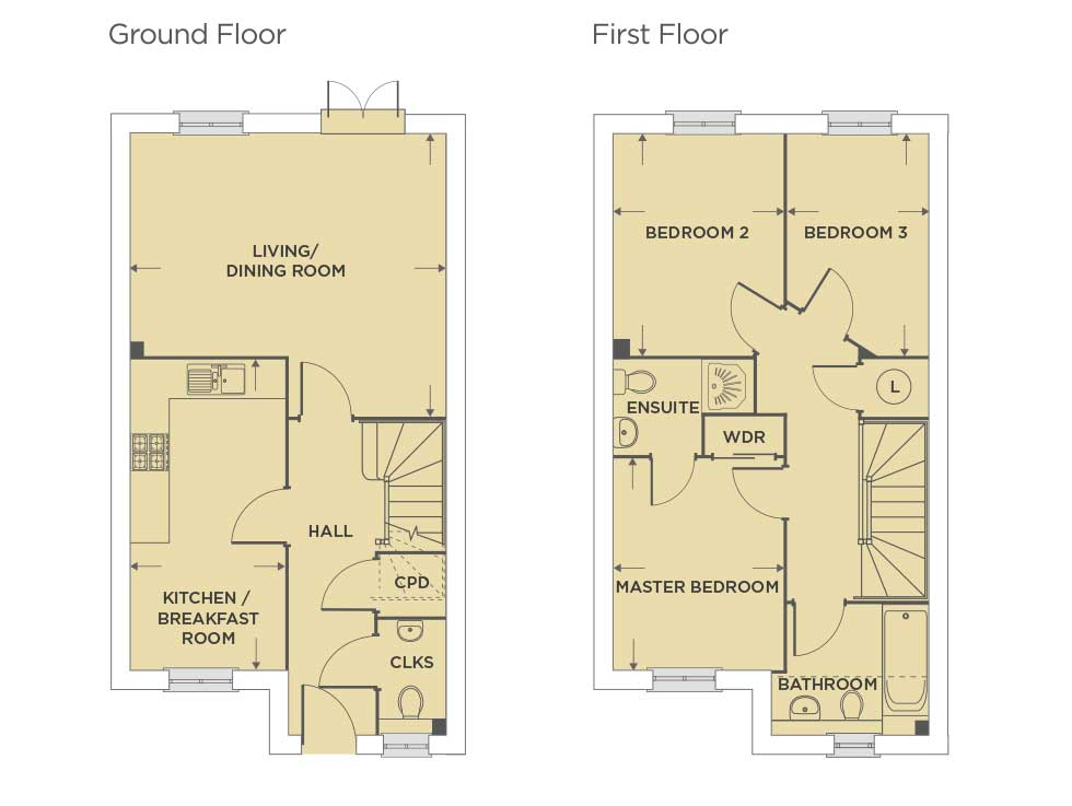 Contemporary Homes Available in Aylesbury Floor plan
