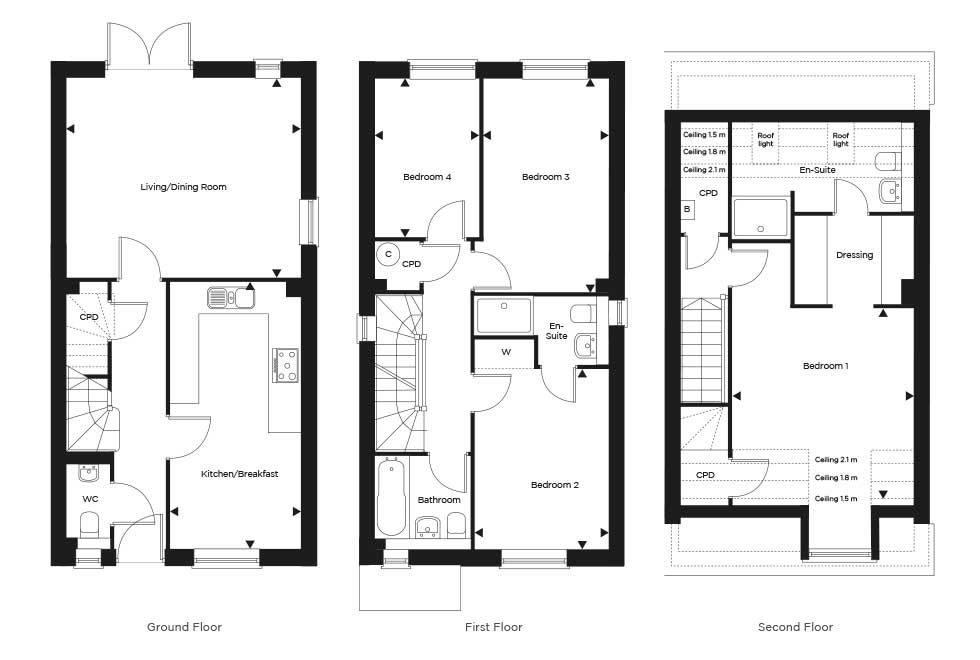 The Hartfield – Plot 121 Floor plan