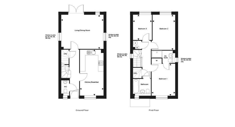 The Netherfield – Plot 129 Floor plan
