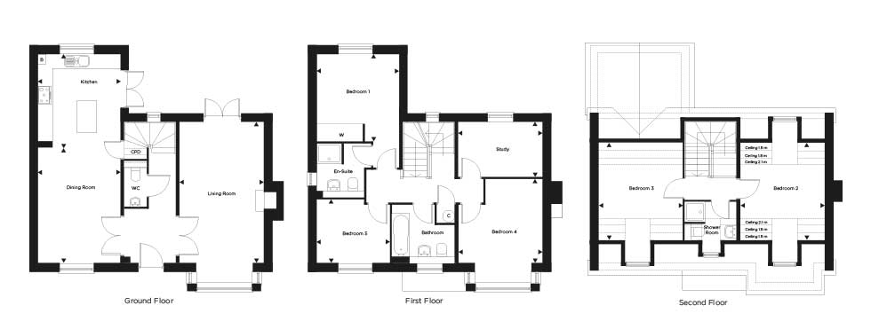 Plot 60 – The Pemberley Floor plan