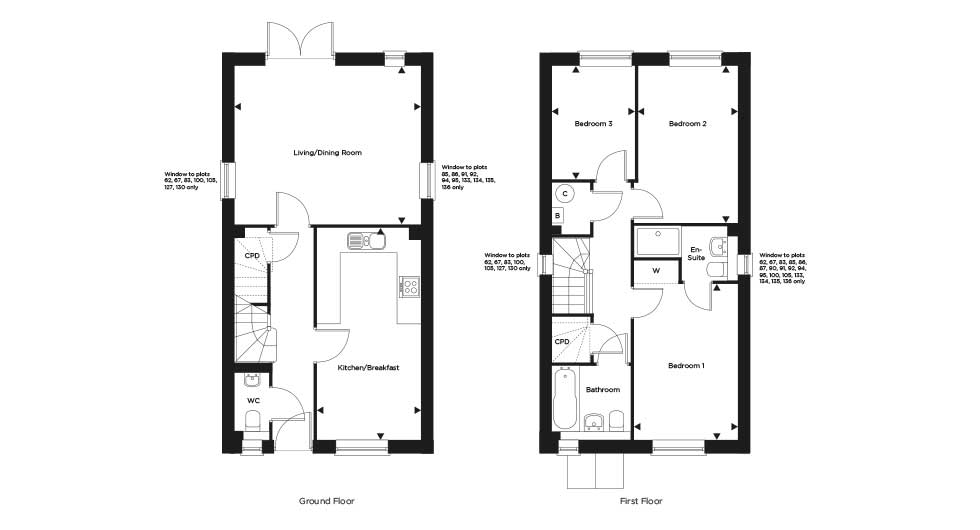 Plot 91 – The Woodston Floor plan