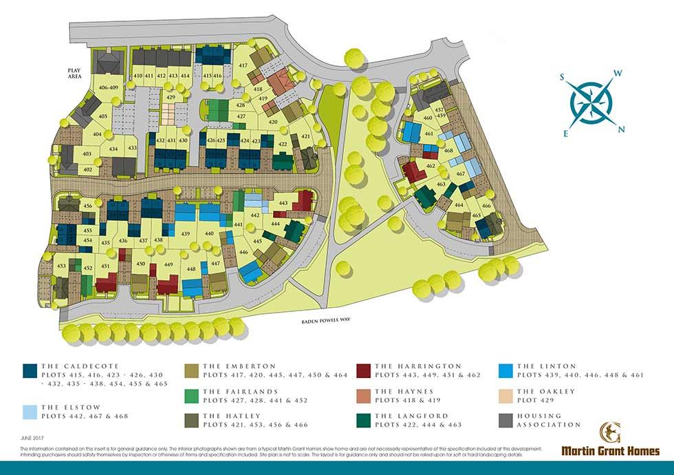 The Caldecote – Plot 438 Siteplan