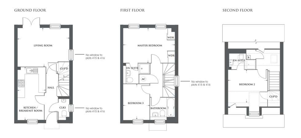 The Caldecote – Plot 435 Floor plan