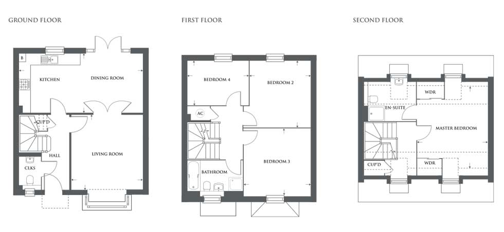 Plot 464 – The Emberton Floor plan