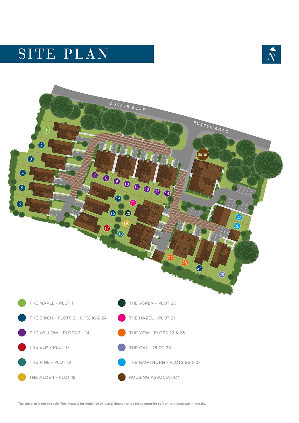 Only Three Homes Remaining at Summerswood, Ifield Siteplan