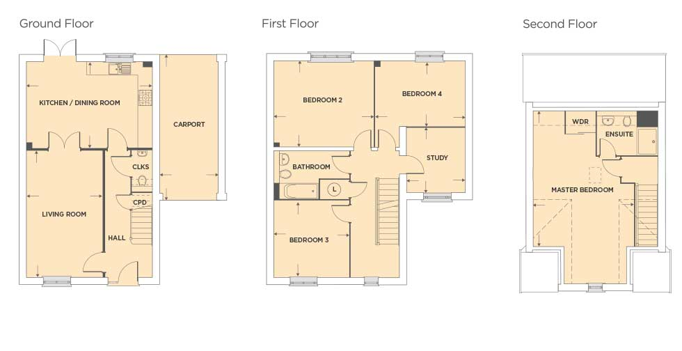Plot 381 – The Finemere Floor plan