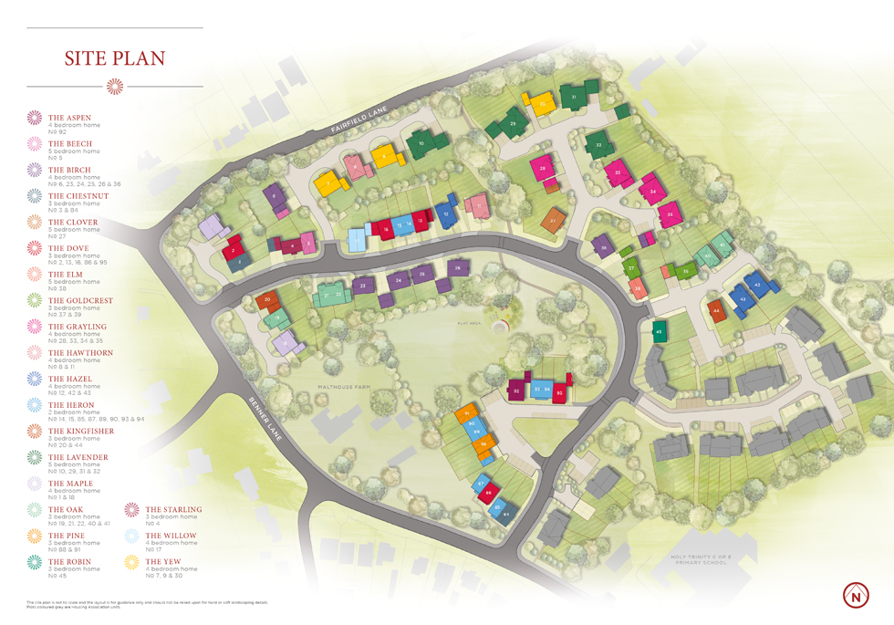 Brand New Show Homes Now Open Daily at The Maltings, West End Village Siteplan