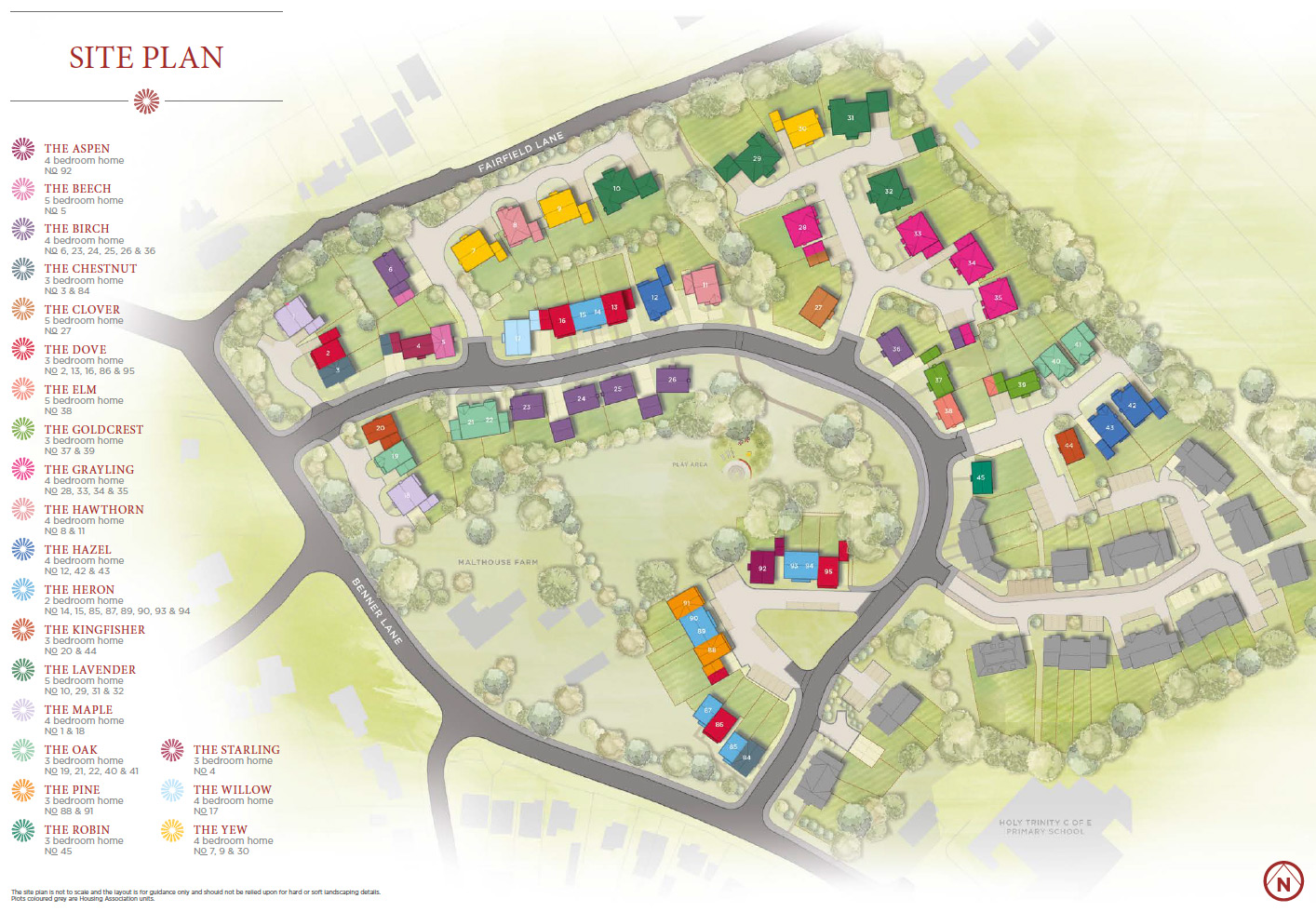Plot 95 – The Dove Siteplan