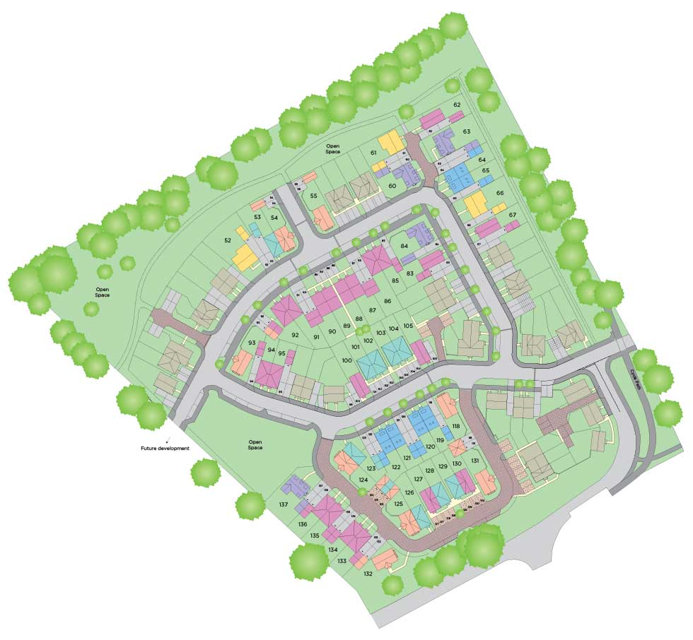 Four bedroom homes available with a deposit of less than £23,000 using Help to Buy! Siteplan