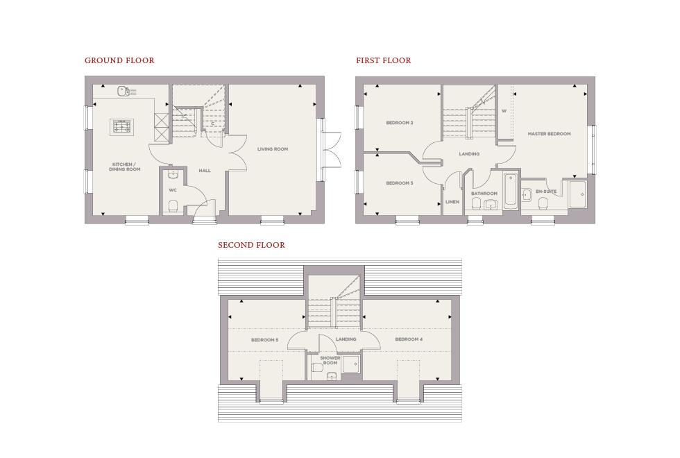 Plot 5 – The Beech Floor plan