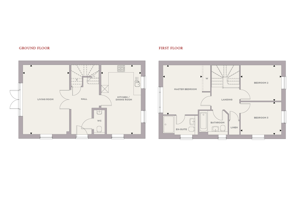 Brand New Show Homes Now Open Daily at The Maltings, West End Village Floor plan