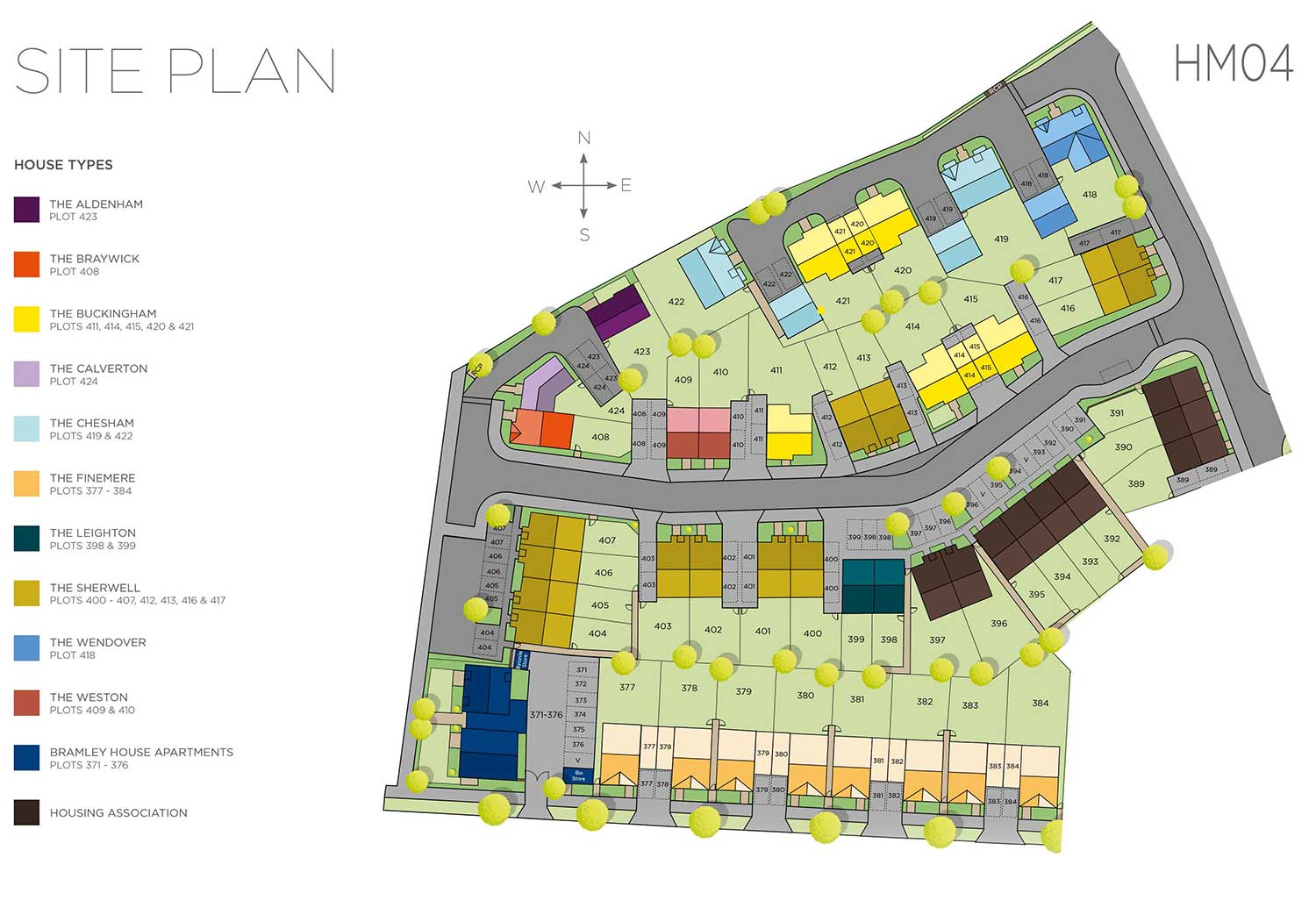 Plot 373 – Bramley House Siteplan