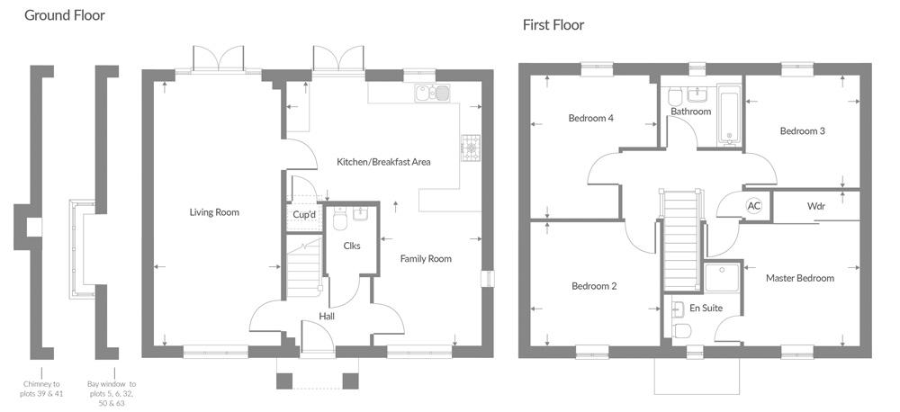 Plot 59 – The Woodside Floor plan
