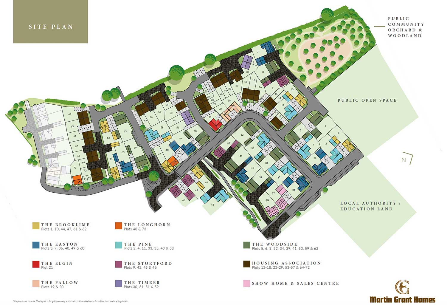 Plot 61 – The Brooklime Siteplan