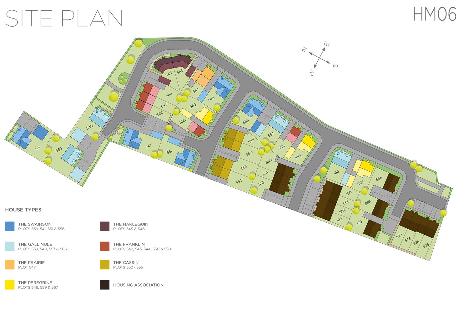 Plot 545 – The Harlequin Siteplan