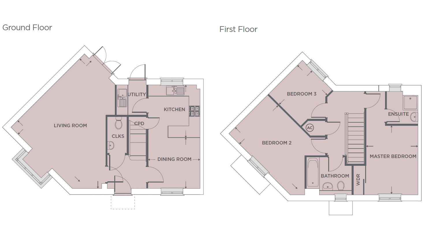 Plot 545 – The Harlequin Floor plan