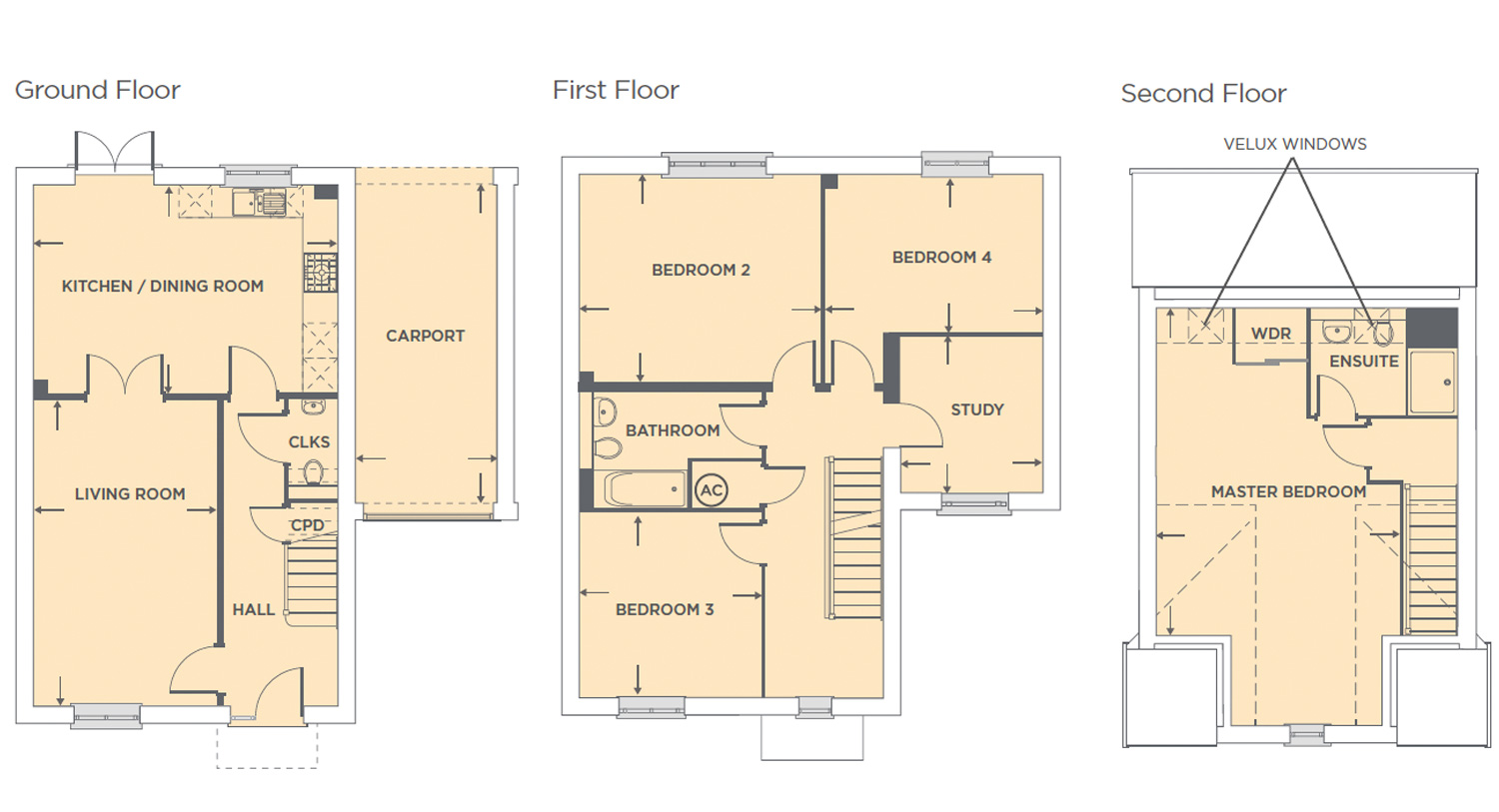 Plot 547 – The Prairie Floor plan
