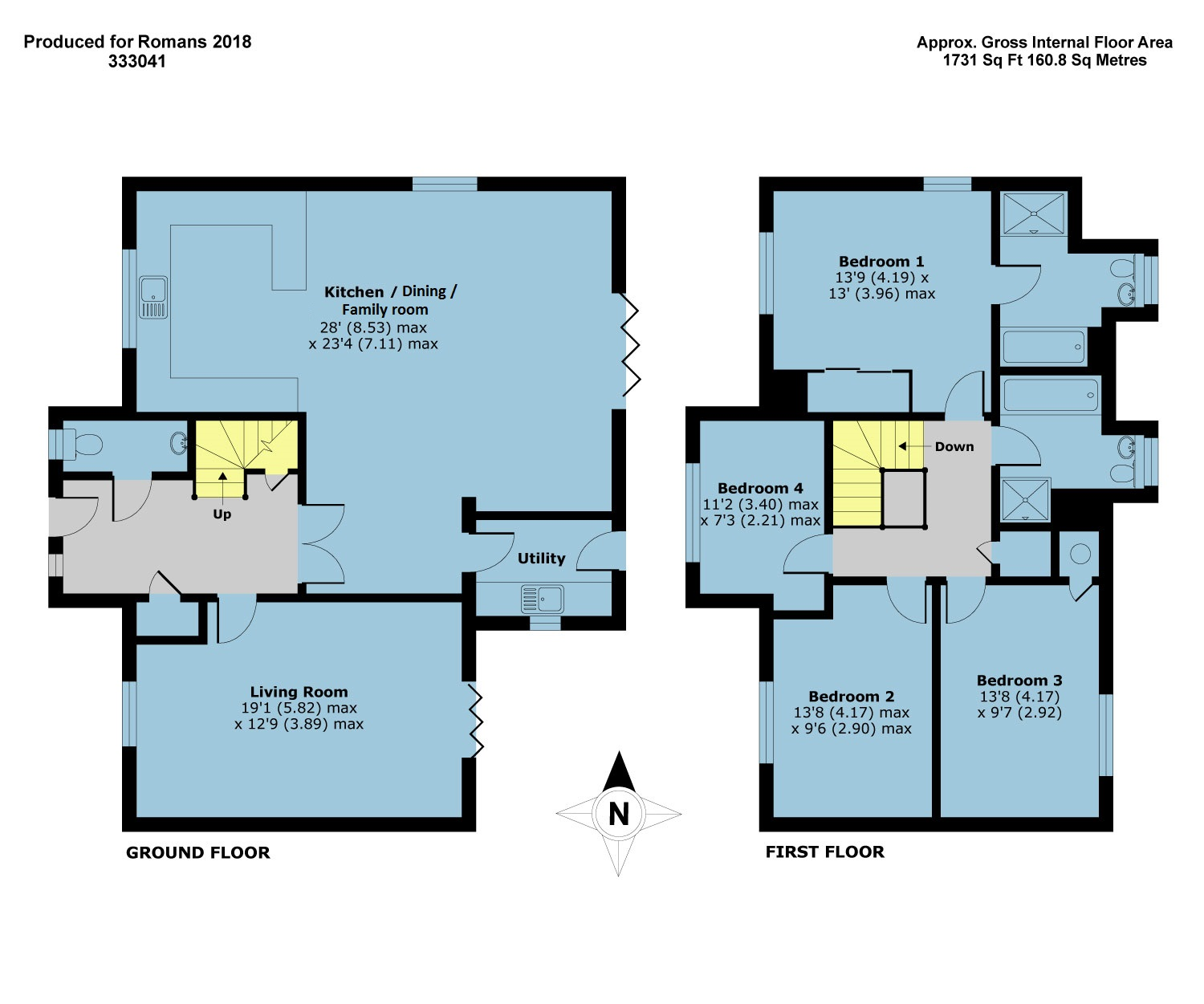 Plot 1 – The Buttermere Floor plan