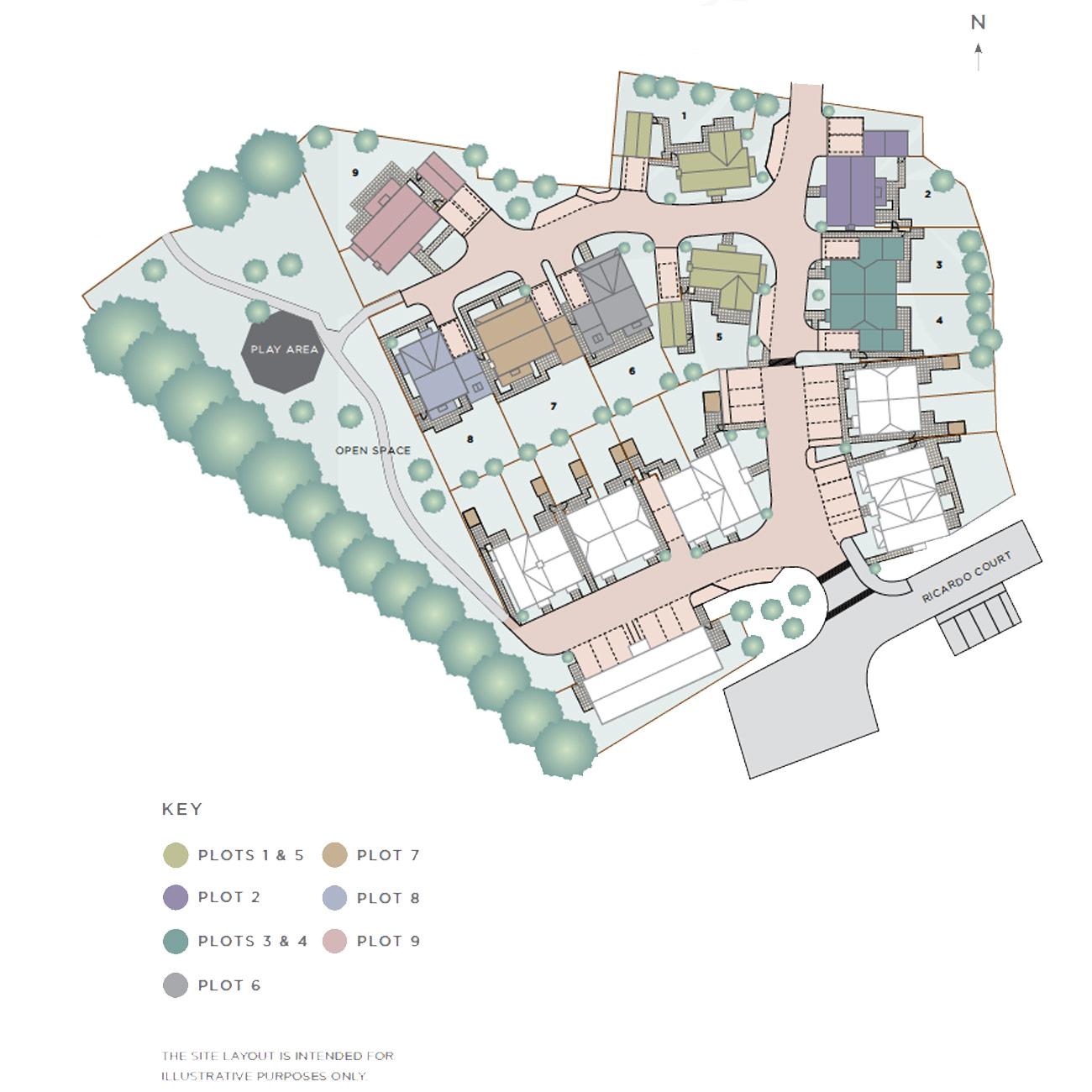 Halsey Meadows Siteplan