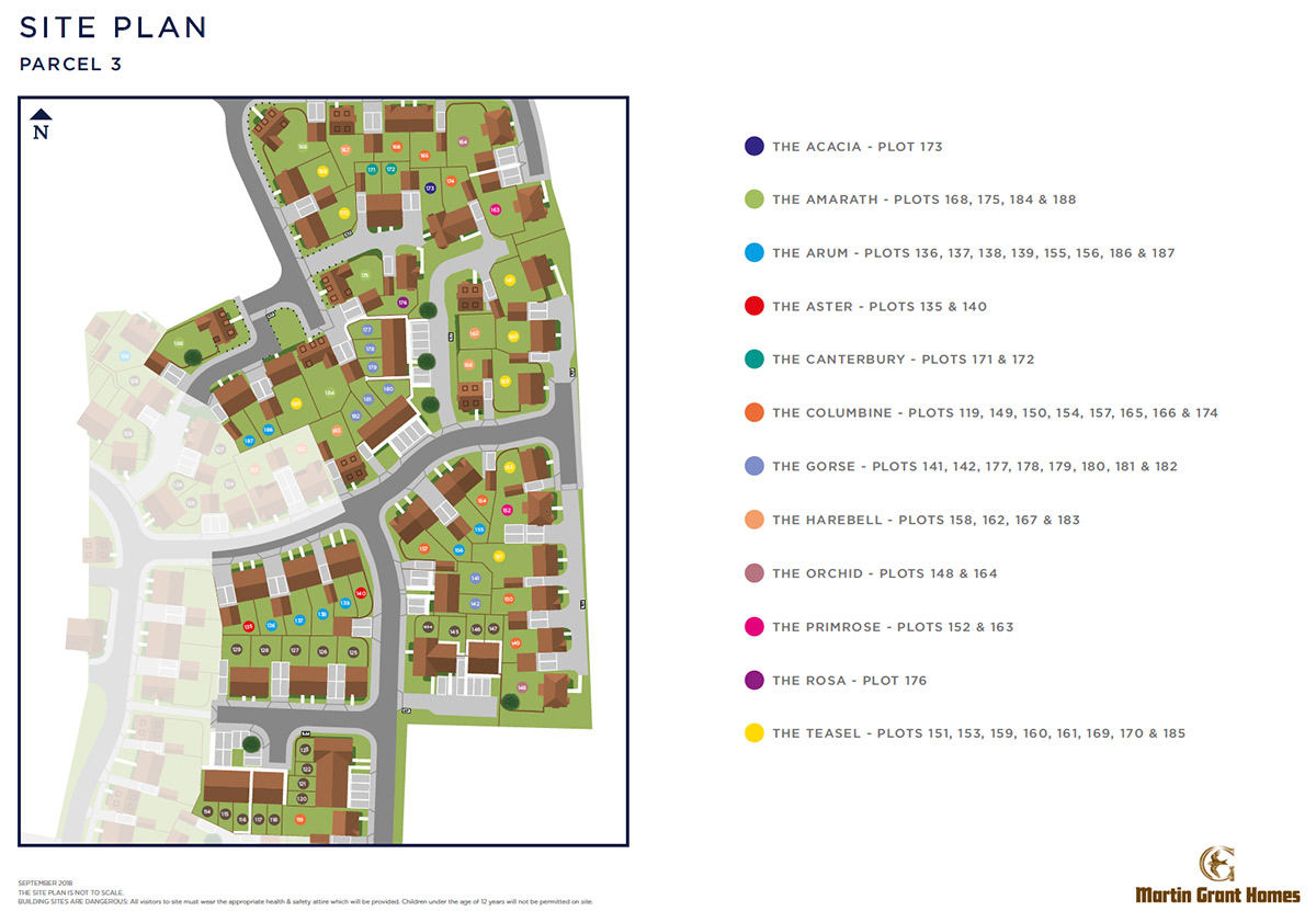Plot 182 – The Gorse Siteplan