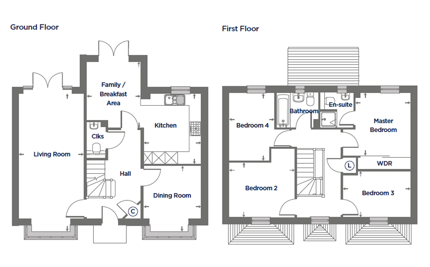 Plot 152 – The Primrose Floor plan