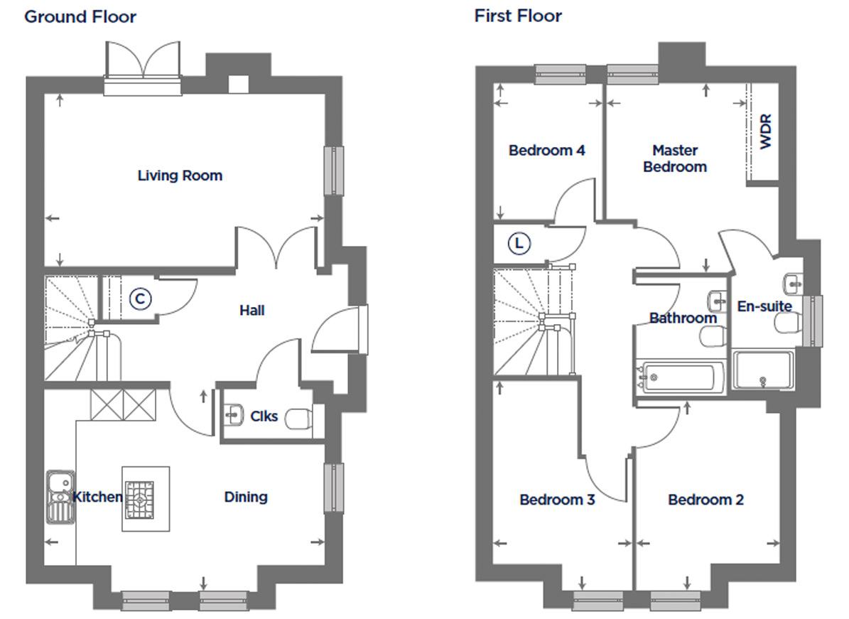 Plot 176 – The Rosa Floor plan