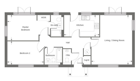 Plot 27 – The Rowhook Floor plan