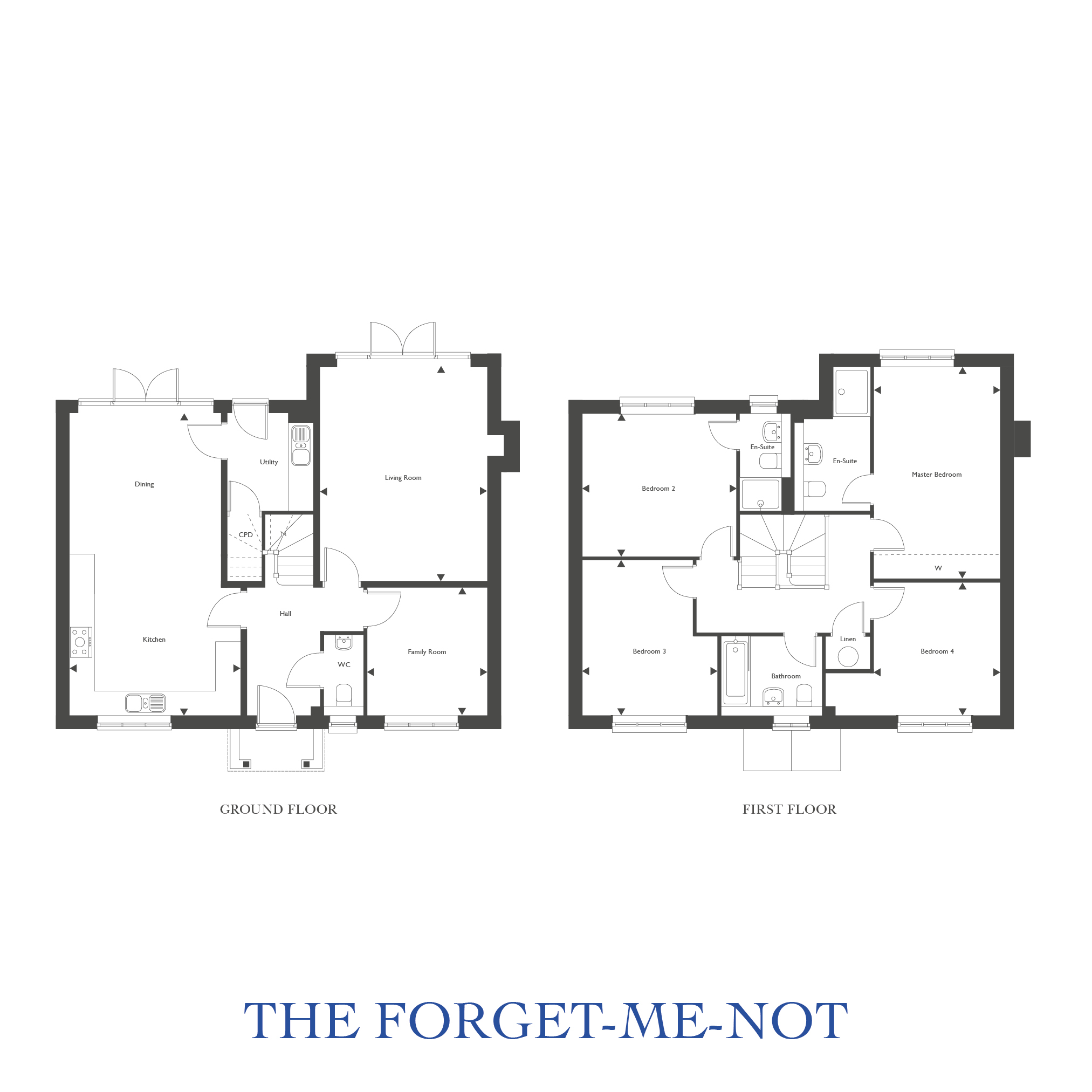 Plot 38 – The Forget-Me-Not Floor plan