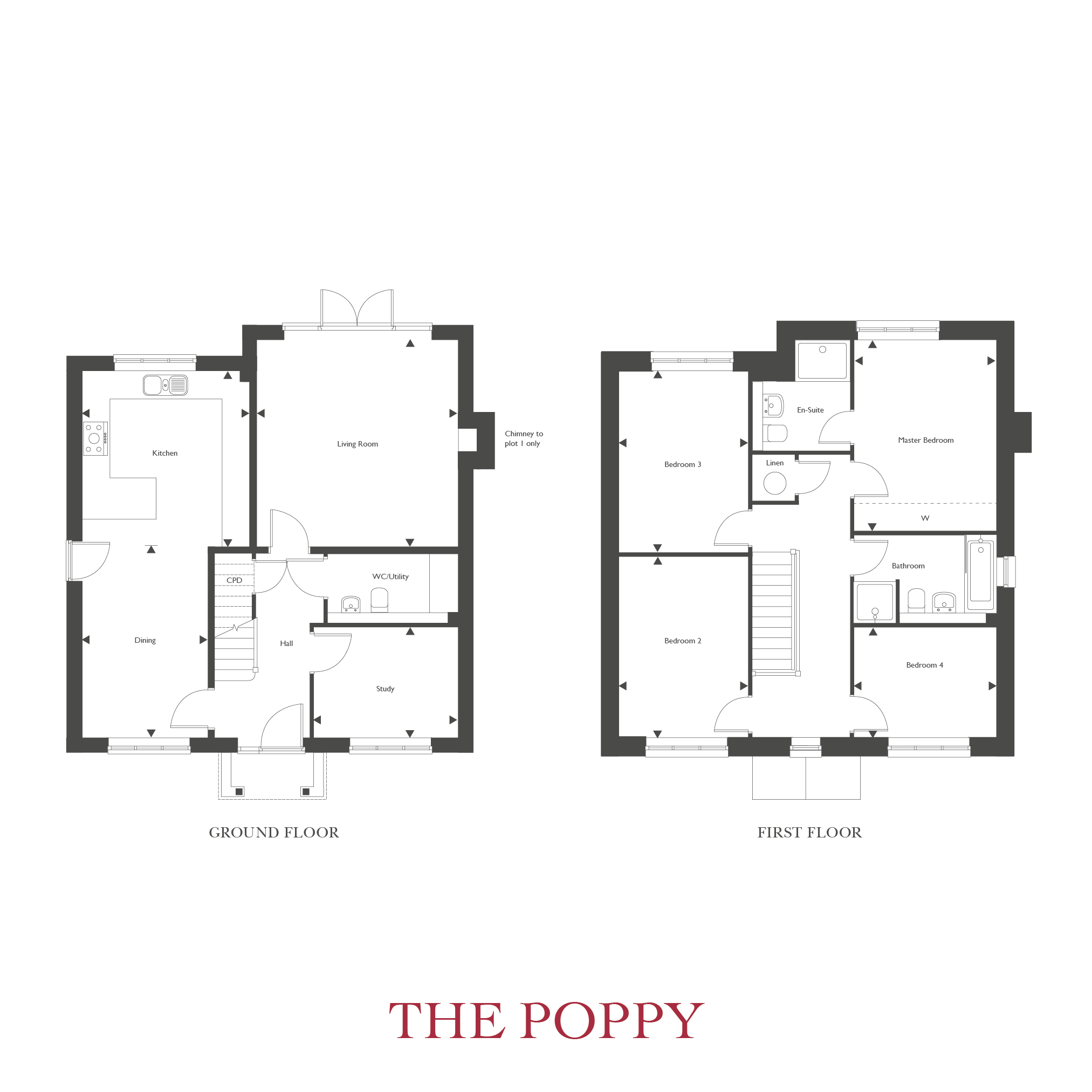 Plot 4 – The Poppy Floor plan