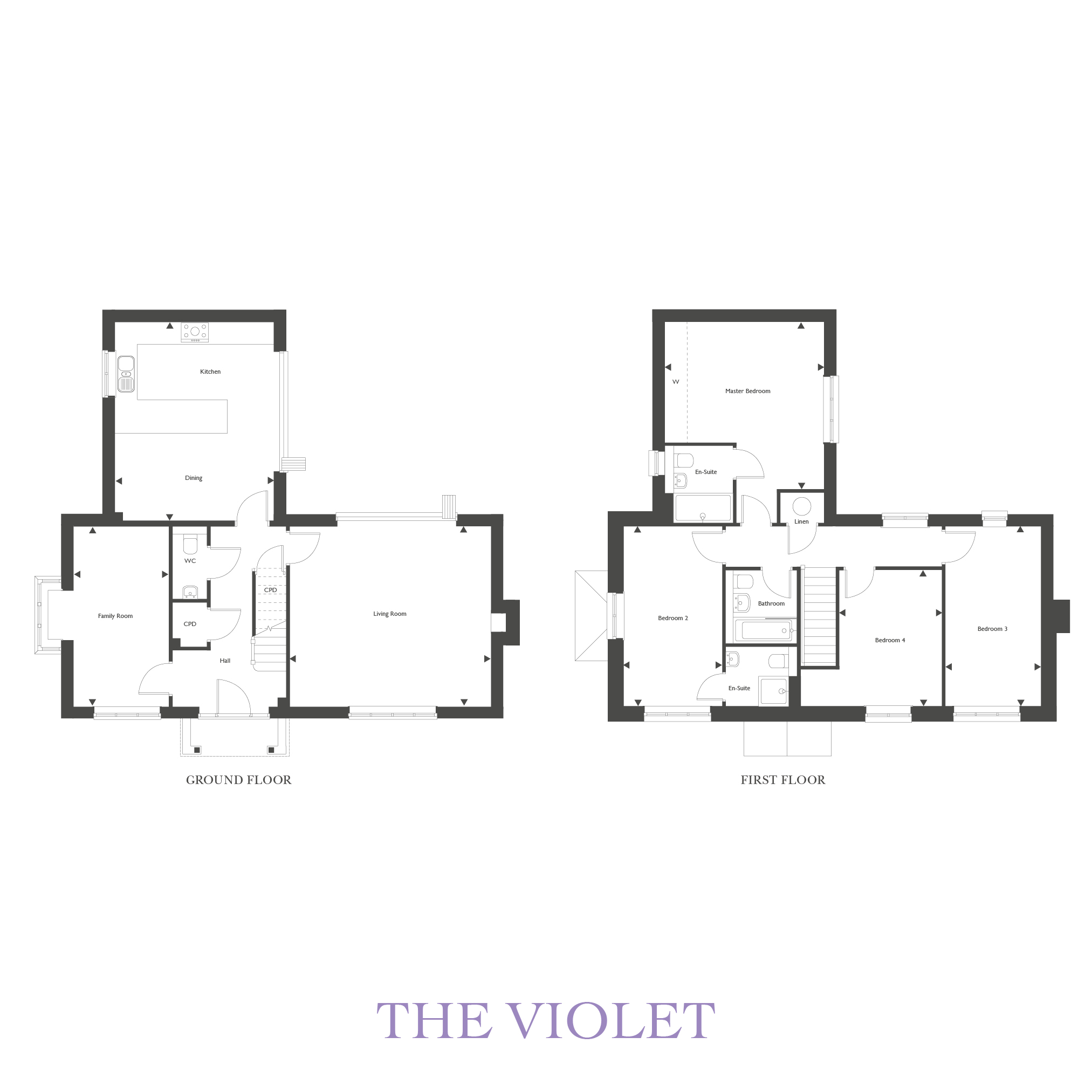 Plot 37 – The Violet Floor plan