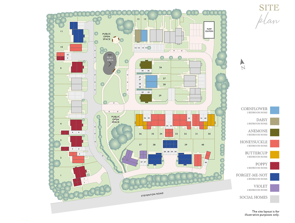 Plot 2 – The Honeysuckle Siteplan