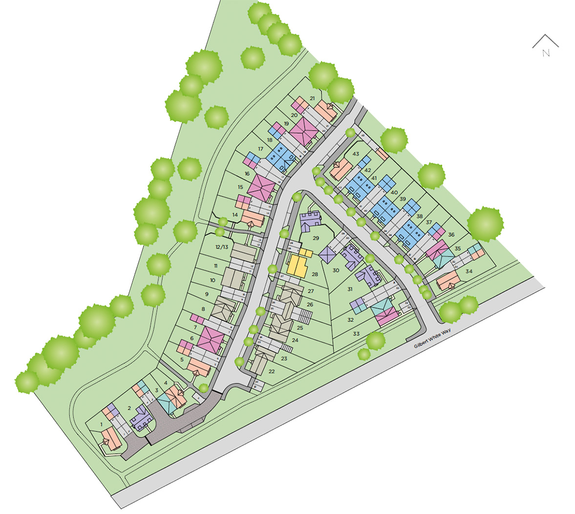 Plot 126 The Netherfield Siteplan