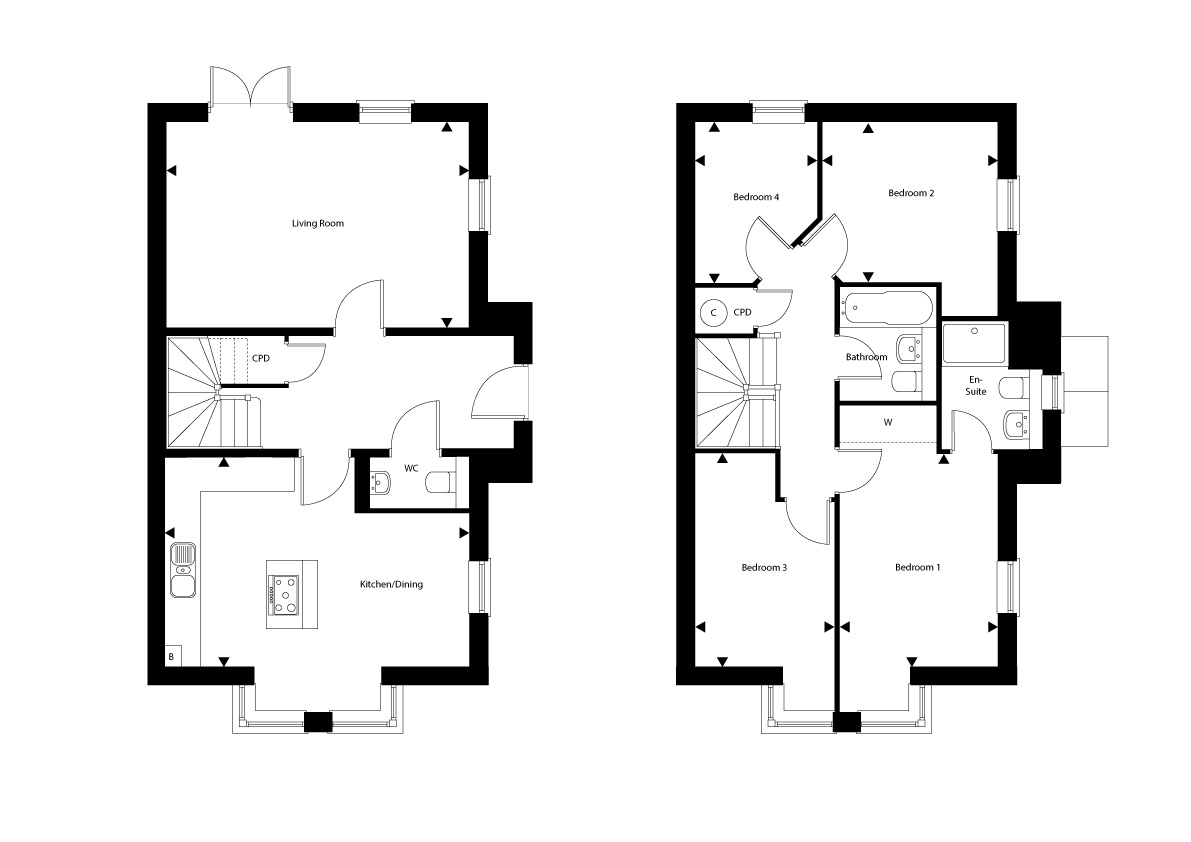 Plot 4 – The Thornberry Floor plan