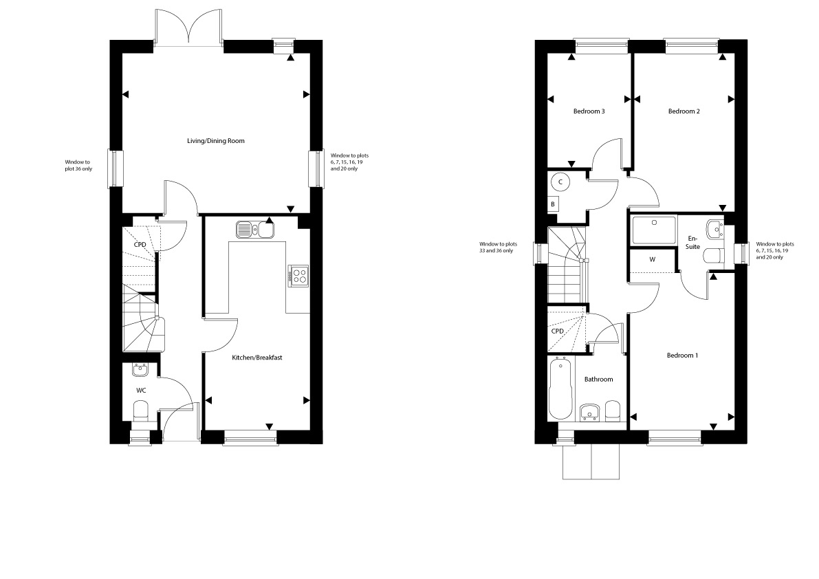 Plot 36 – The Woodston Floor plan