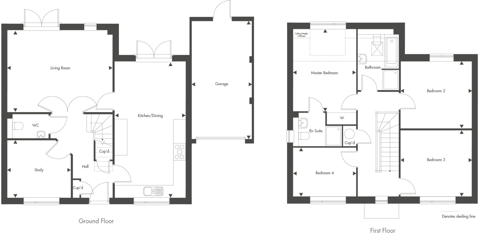 Plot 25 – The Higham Floor plan