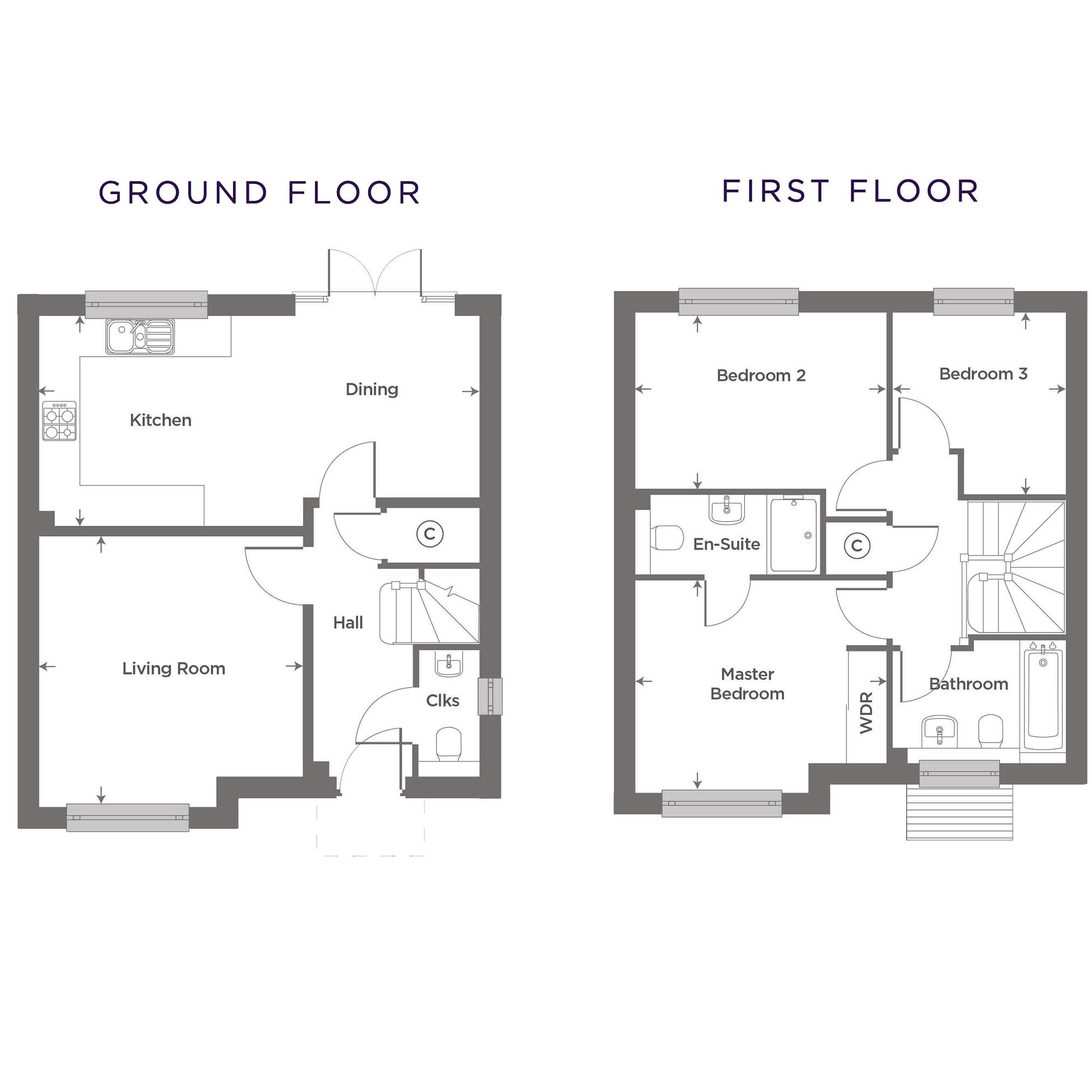 Plot 7 – The Rushden Floor plan
