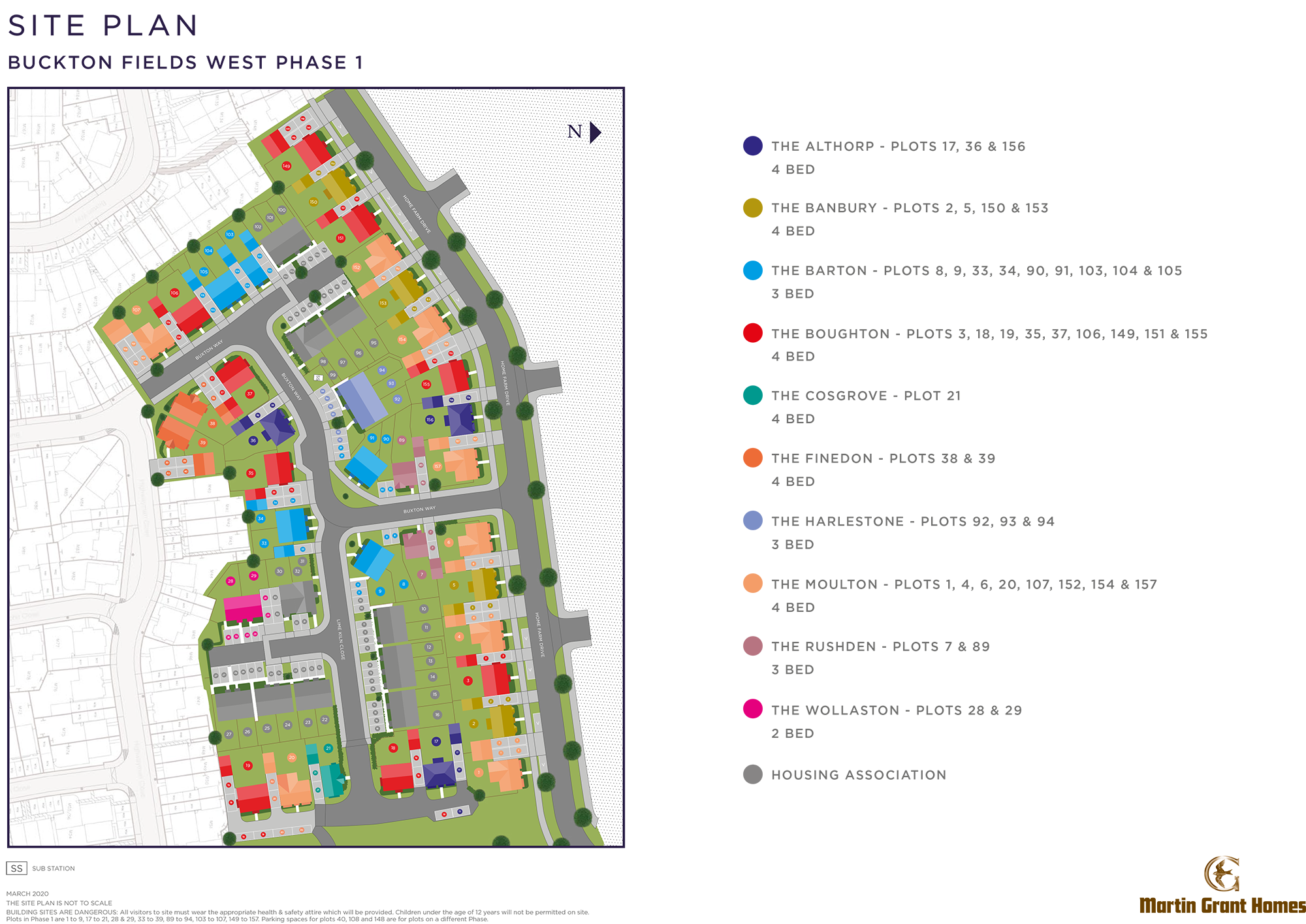 Plot 157 – The Moulton Siteplan