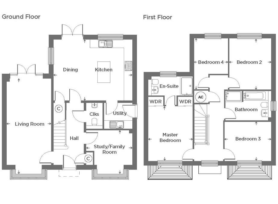 Plot 157 – The Moulton Floor plan