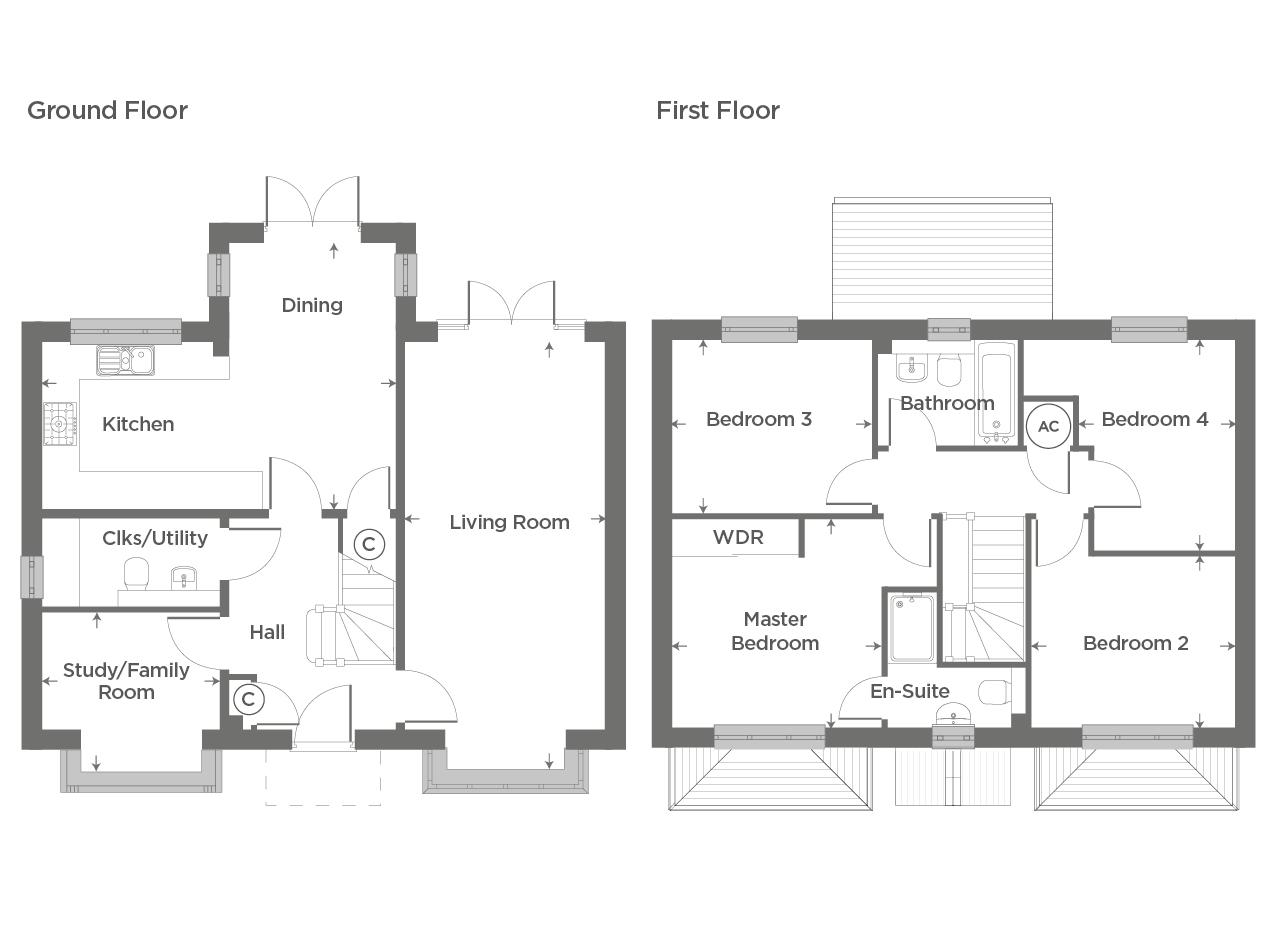 Plot 67 – The Althorp Floor plan