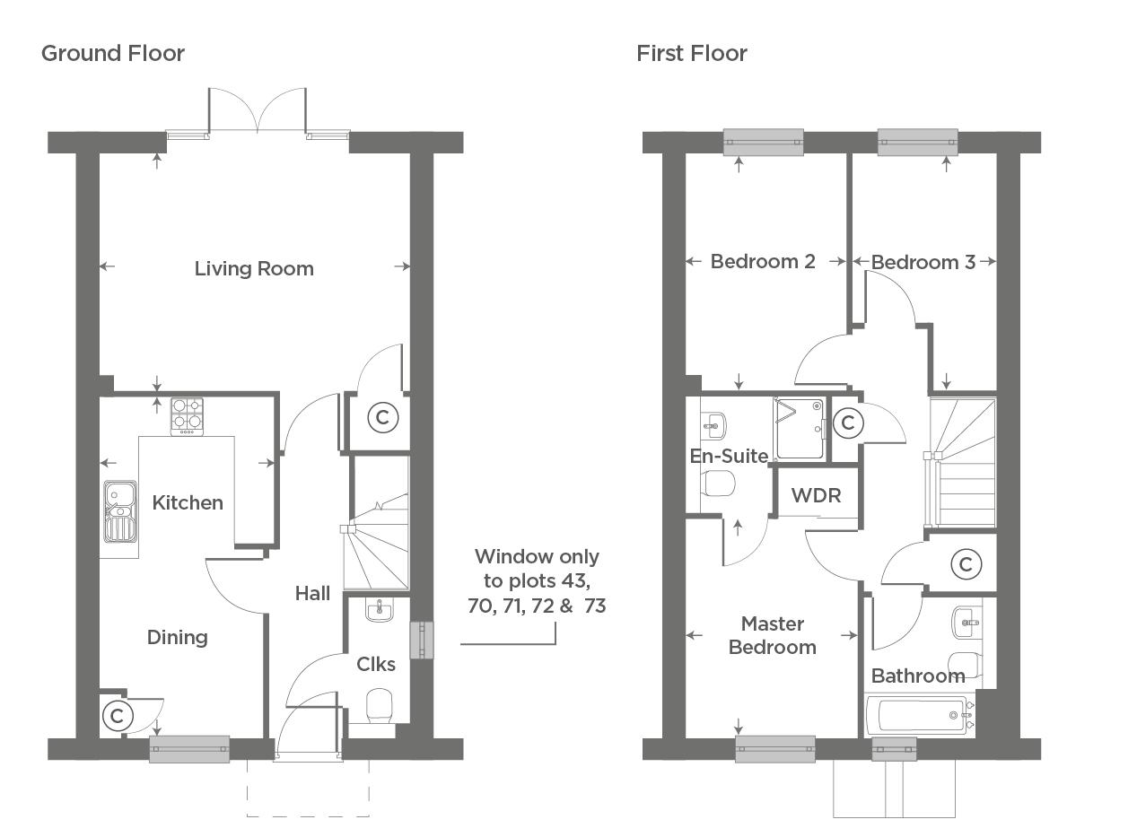 Plot 70 – The Harlestone Floor plan