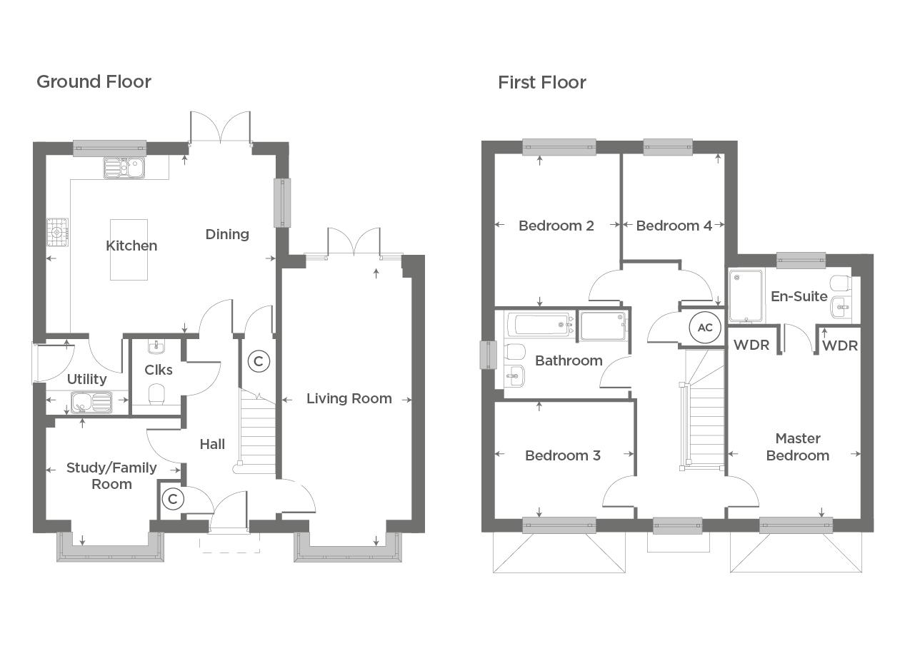 Plot 76 – The Moulton Floor plan