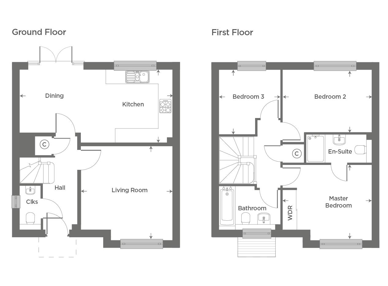 Plot 44 – The Rushden Floor plan