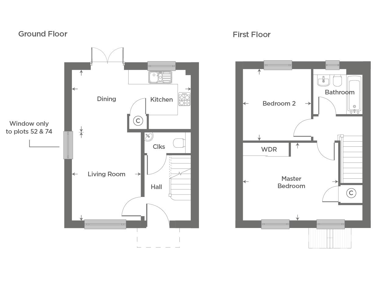 Plot 52 – The Wollaston Floor plan